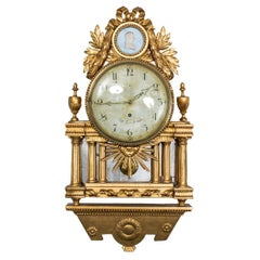 Clock Wall Swedish 18th Century Gustavian Neoclassical Sweden