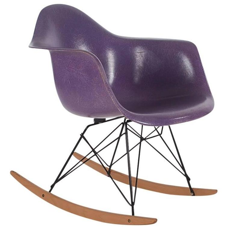 charles eames for herman miller purple fiberglass lounge. Black Bedroom Furniture Sets. Home Design Ideas