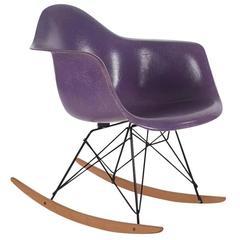 Charles Eames for Herman Miller Purple Fiberglass Lounge Rocking Chair Rar