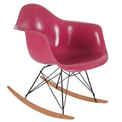 Charles Eames for Herman Miller Pink Fiberglass Lounge Rocking Chair Rar
