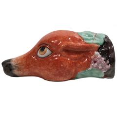 Staffordshire Fox Head Stirrup Drinking Cup for the Hunt