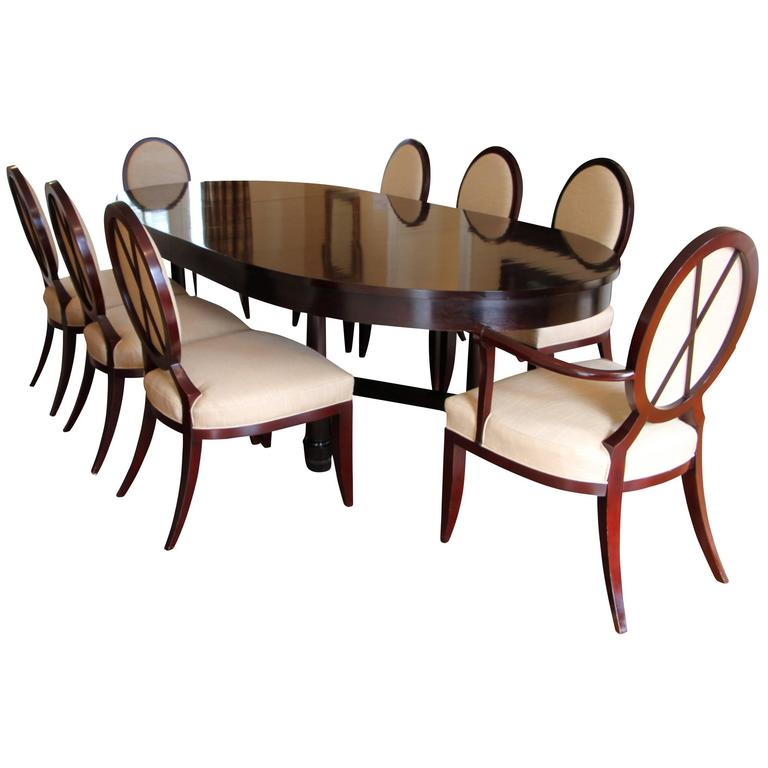 Bon Dining Table With X Back Dining Chairs By Barbara Barry For Baker Furniture  For Sale
