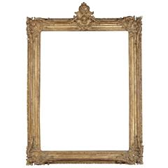 Exceptional Louis XV Period Royal Frame Mounted as Mirror, 18th Century