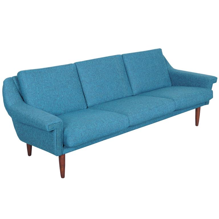 Danish modern sofa mid century modern sofa 1 new sleeper for Danish modern reproduction