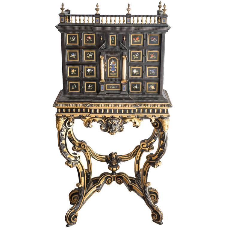 19th Century Florentine Pietra Dura Cabinet