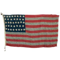 """38-Star """"Centennial"""" American Flag, circa 1876"""