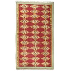Gallery Size Flat-Weave Cotton Dhurrie