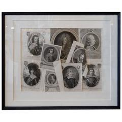 Collage of 18th and 19th Century Noblemen Engravings