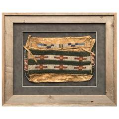 Native American Beaded Possible Bag, Blackfeet 'Plains Indian,' circa 1920