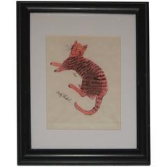 Andy Warhol, Offset Lithograph, Pink Sam