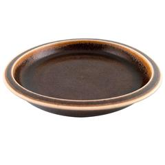 Saxbo, Large Ceramic Dish or Bowl, Beautiful Brown Glaze