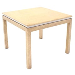 Grass Cloth Square Game Table