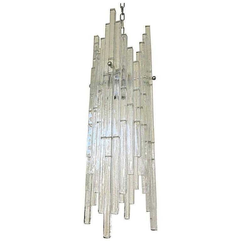 Italian Murano Glass Rods Pendant by Poliarte