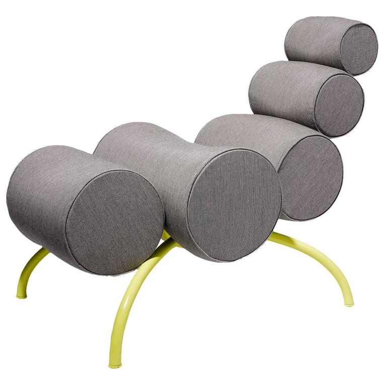 Child Mini Ant Chair by Philippe Nacson in Sunbrella Fabric with Steel Frame
