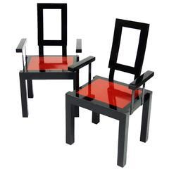 1980s Italian Postmodernist Memphis Style Chairs
