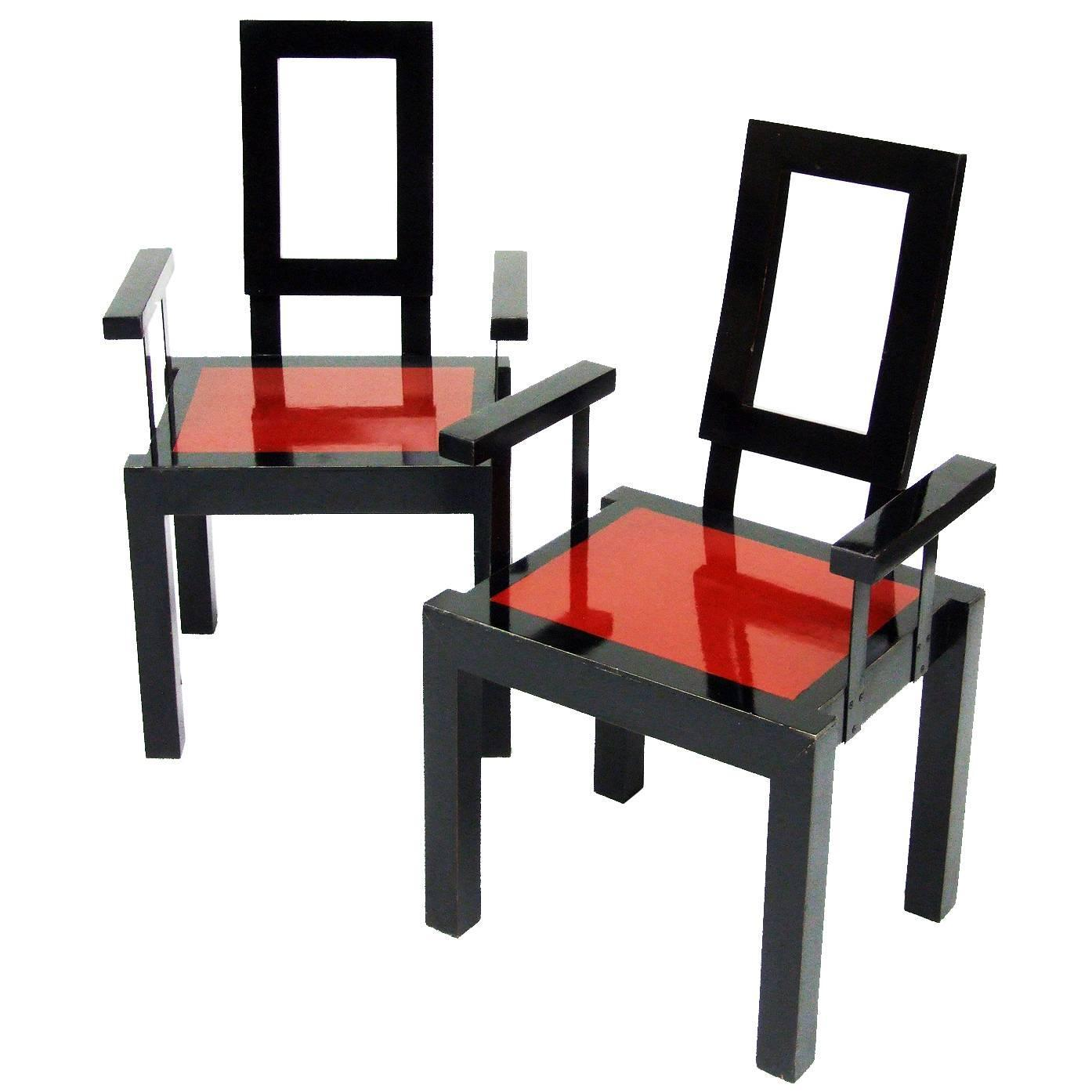 1980s Furniture 1980s italian postmodernist memphis style chairs for sale at 1stdibs