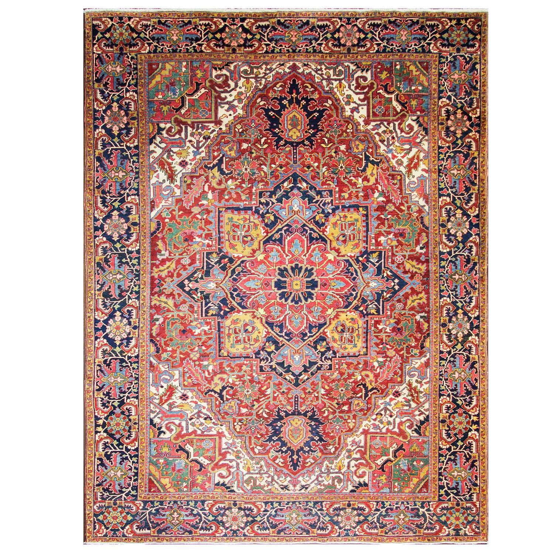 Chromatic Antique Persian Heriz Carpet For Sale At 1stdibs