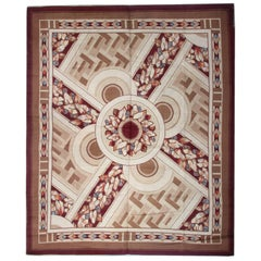 Antique Rug Floor Area Art Deco Rugs, Carpet from Iceland
