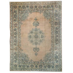 Handmade Carpet Antique Rugs, Turkish Rugs, Oriental Rugs, Pink Rug Borlou