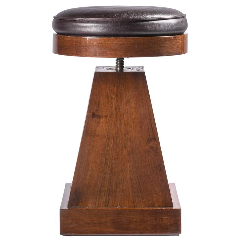 French Adjustable Stool For Sale