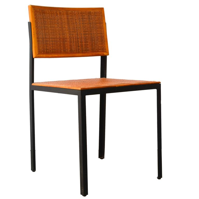 George Nelson Steel Frame Side Chair 1950s At 1stdibs