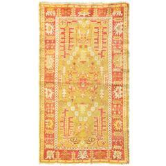 Glamorous Fine Antique Oushak Rug