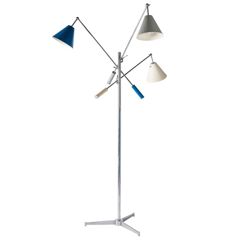 Signed Arredoluce Monza Triennale Floor Lamp by Angelo Lelli 1