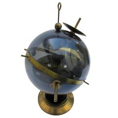 Midcentury Sputnik Weather Station Barometer