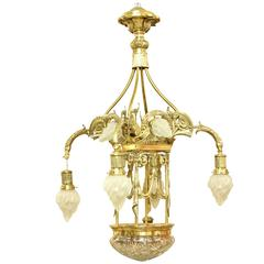 European Art Nouveau/ Secessionist Style Grand Chandelier