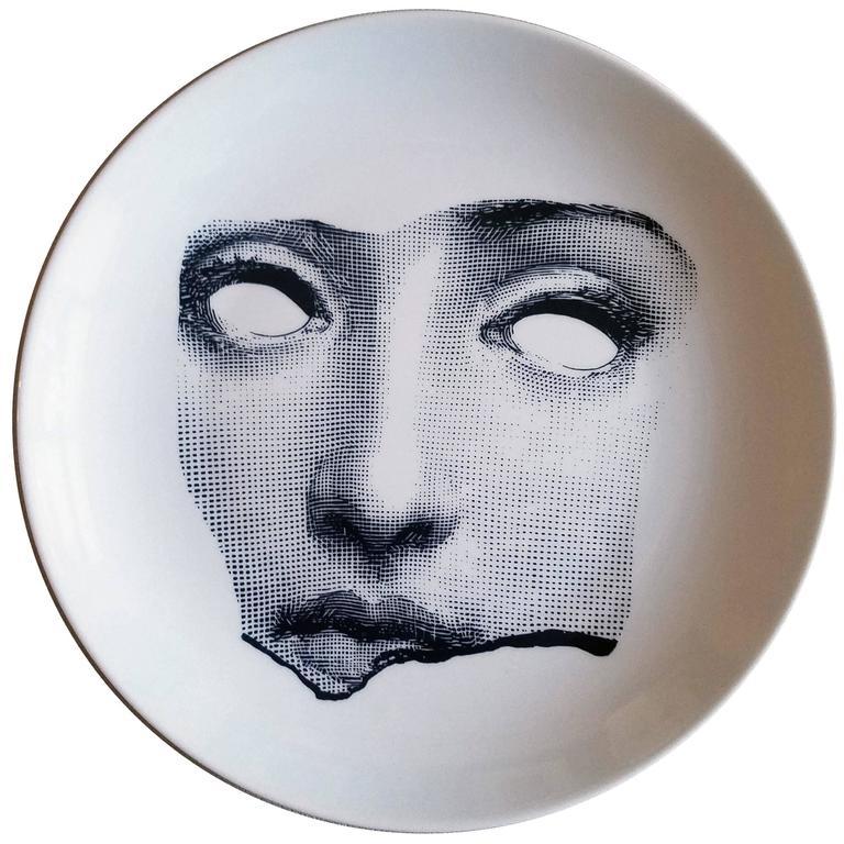 Piero Fornasetti Tema E Variazioni Plate, #64, of Lina Cavalieri's Face