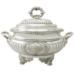 Sterling Silver Soup Tureen/Centerpiece - Antique George IV