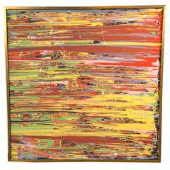 Mid-Century Modern Abstract on Canvas