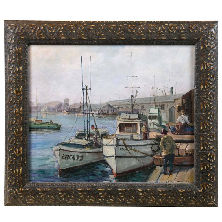 Oil on Board Maritime Painting