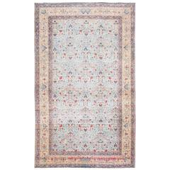 Beautiful and Extremely Decorative Light Blue Antique Persian Tabriz Rug