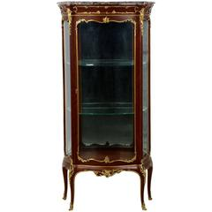 Fine French Louis XV Style Gilt Bronze Vitrine Display Cabinet Case, circa 1880