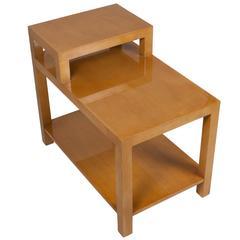 Single Mahogany Stepped End Table by Robsjohn-Gibbings