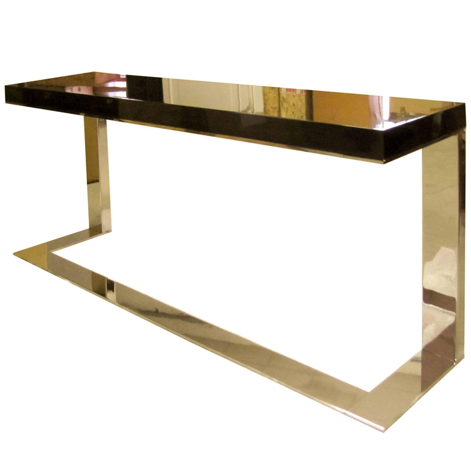 Italian modern ebony timber and brass kelly console table by dom italian modern ebony timber and brass kelly console table by dom edizioni for sale at 1stdibs geotapseo Image collections