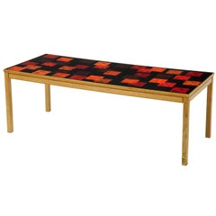 1960s David Rosen and P Torneman Teak and Enamel Coffee Table for NK