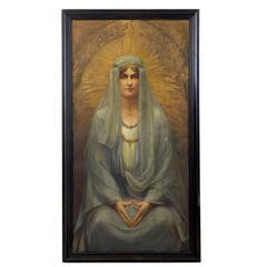 Late 19th Century Symbolist Secessionist Style Portrait of a Woman