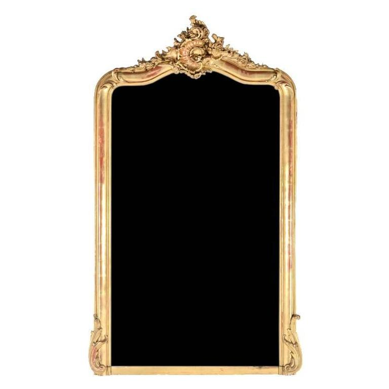 French carved gilt mirror circa 1880 at 1stdibs for Baroque mirror canada