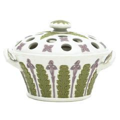 19th Century Wedgwood Three Color Jasperware Potpourri