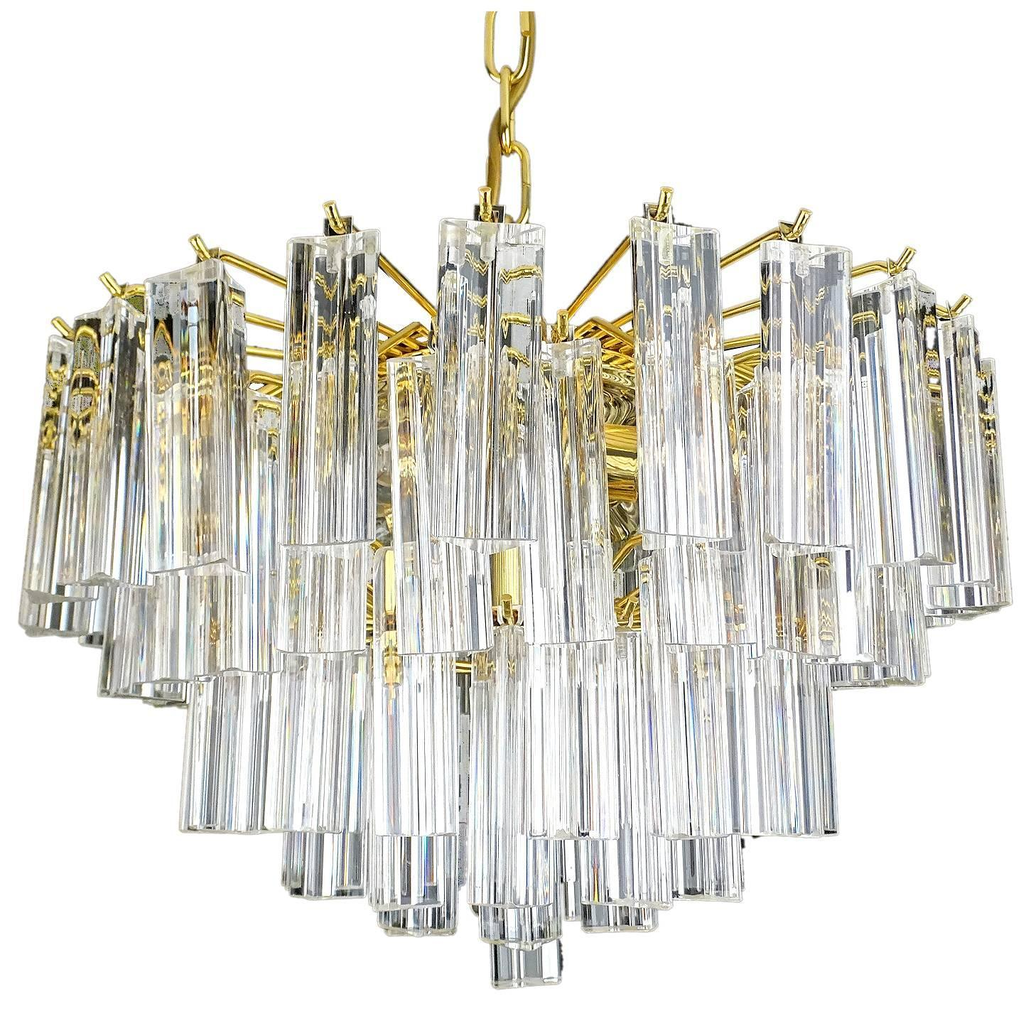 grey with chic prisms prism chandelier antique small