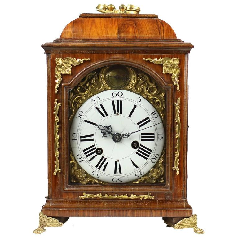 Early Table Clock Italy Circa 1760 1770 Rosewood At 1stdibs