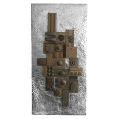 Large Brutalist Wall Sculpture