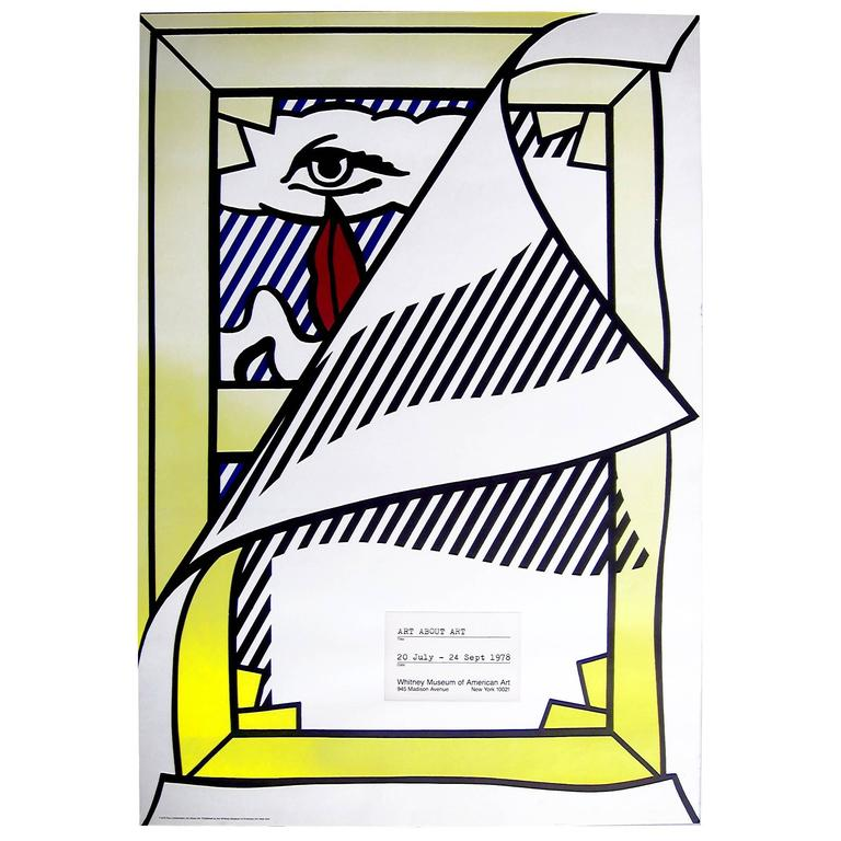 Roy lichtenstein whitney museum exhibition poster 1978 at for Poster roy lichtenstein
