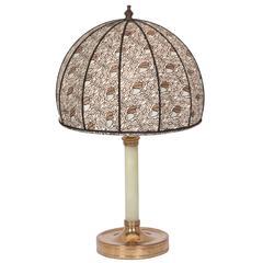 Austrian Bronze and Resin Table Lamp, circa 1910