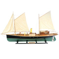Vintage, Sailing Steam Boat, Yacht Model, Prince Albert steam Yacht.
