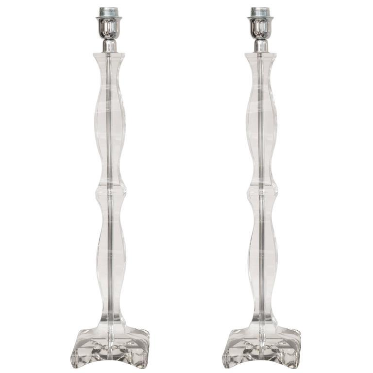 Elegant Pair of Lamps in Murano Glass