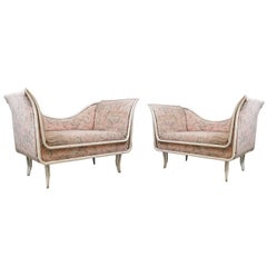 Pair of Small Sofas from Italy, circa 1940