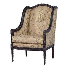 Carved Georgian Style Wing Chair